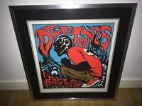 Framed Deftones Concert Poster
