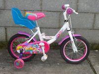white kids bike apollo pixie 14''