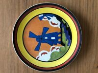 """CLARICE CLIFF Wedgwood Plate """"Windmill"""""""