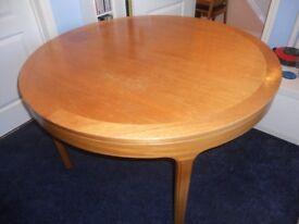 Circular Teak Dining Table