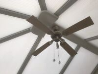 OVERHEAD FAN & SPOT LIGHTS. Equalise temperature in your conservatory. VGC