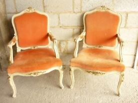 PAIR LOUIS FRENCH CARVER CHAIRS