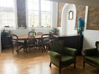 Spacious doubled bedroom in a Victorian School Loft