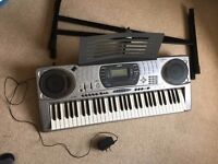 CASIO CTK-671 KEYBOARD MIDI IN/OUT Large Keys Touch Sensitive