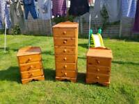 Tall Chest & Bedside Tables