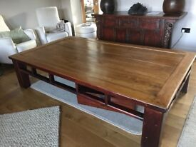 Very large coffee table: original Chinese Day Bed (Opium Den!)