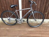Mans 21 speed hybrid mountain bike