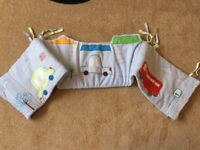 **Mothercare Cars COT BED Bumper and Sleep positioner **EXCELLENT Condition**