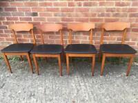 Set Of Four Elliots Of Newbury Mid Century Chairs