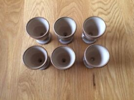 Six Denby Viceroy Egg Cups, excellent condition. ONLY £30