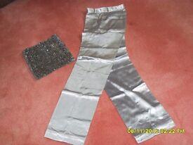 Vintage 70s silver boob tube & pants Size 10