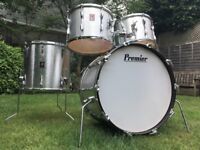 Vintage 70's Premier Elite Drum Kit in Silver Star - Stunning