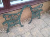 Pair Of Cast Iron Garden Bench Ends - Heavy