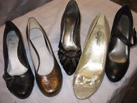 "LADIES HEELS - FIVE PAIRS - ""NEW"" & ""AS NEW"""