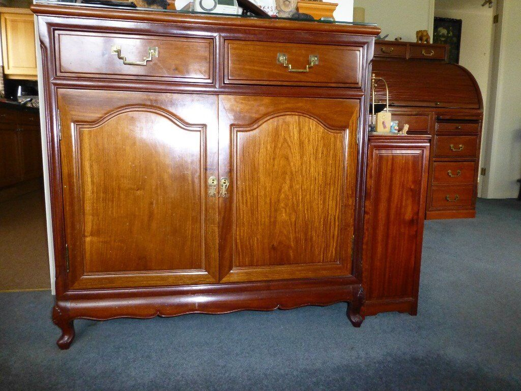 Rosewood double cupboard with drawers mint condition