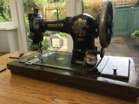Jones cast iron table sewing machine