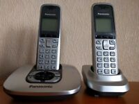 Pair of Panasonic cordless phones