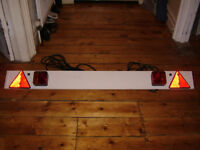 """Trailer Light Board, 4' 6"""" wide, 7 pins, 12m cable"""