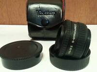 Shnaider componar-s2.8/50 lens and second sigma lens also with box! very good condition!both 15