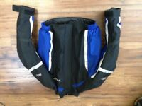 Textile motorcycle jacket and trousers