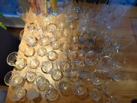 65 drinking glasses