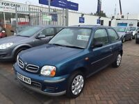***REDUCED*** 2002 02 NISSAN MICRA 1.0 LOW MILEAGE RELIABLE CAR WITH NEW MOT STILL SOUGHT AFTER!