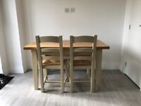 Dining Table, with 2 Chairs and Bench