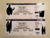 2x Bruno Mars Seated Tickets - Leeds First Direct Arena - 05/05/17