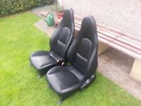 Mazda MX5 Mk2.5 S-VVT Black Leather Sports Seats