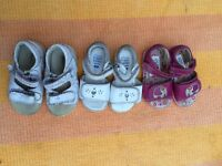 Baby girl summer sundals from Clarks, Geox Hush Puppies in size 4 and 4.5