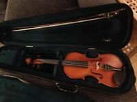 Gliga Gems 2, 3/4 size Violin with bow, case and shoulder rest