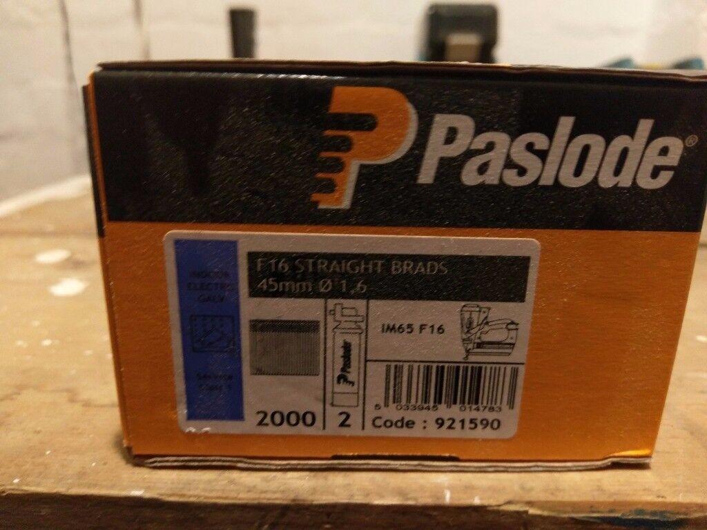 PASLODE F16 STRAIGHT BRADS