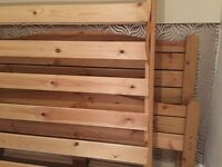 Pine double bed frame only