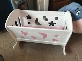 Doll bed and rocker