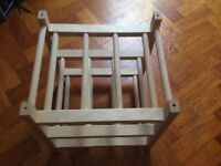 Wooden wine 9 rack