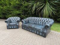 Chesterfield Leather 3+1 Suite