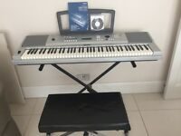 Yamaha DGX-220 portable Grand Keyboard, Stand and stool