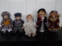 Large range of pottery dolls