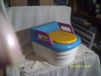 THE POTTY TO END ALL POTTIES & CHAIR . SUPERBLY MADE TO LAST , SO EASY TO CLEAN & USE