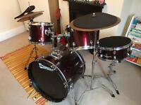 Immaculate full Premier drum kit