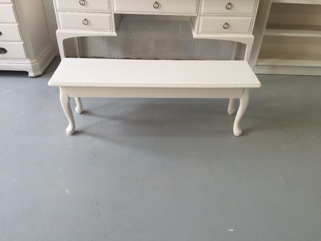 wooden bench  low console tablequeen anne legsnewly refurbished  - wooden bench  low console tablequeen anne legsnewly refurbishednowstunning
