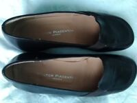 Italian Leather Black Loafers size 34/2