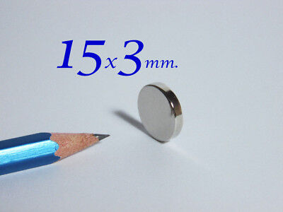 50 pezzi 15x3 mm . MAGNETE NEODIMIO CALAMITA x FIMO MAGNETE CALAMITE