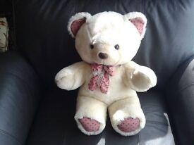 """17"""" CUDDLY BEIGE TEDDY BEAR"""