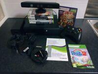 Microsoft Xbox 360 + controller + Kinect Sensor + 7 games CHEAP BUNDLE
