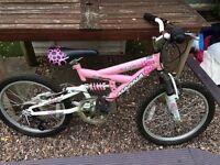 "Girls full suspension mountain bike - 20"" wheels - £30"