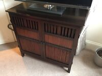 Attractive Dark wood Bookcase and Sideboard/TV&Multimedia Unit from 'The Pier'