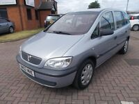 VAUXHALL ZAFIRA 1.6 CLUB 7 SEATER (02) in SILVER, VERY LOW MILES, SERVICE HISTORY