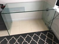 Glass office desk - good condition