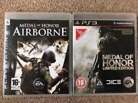 PS3 games bundle - Medal of Honor